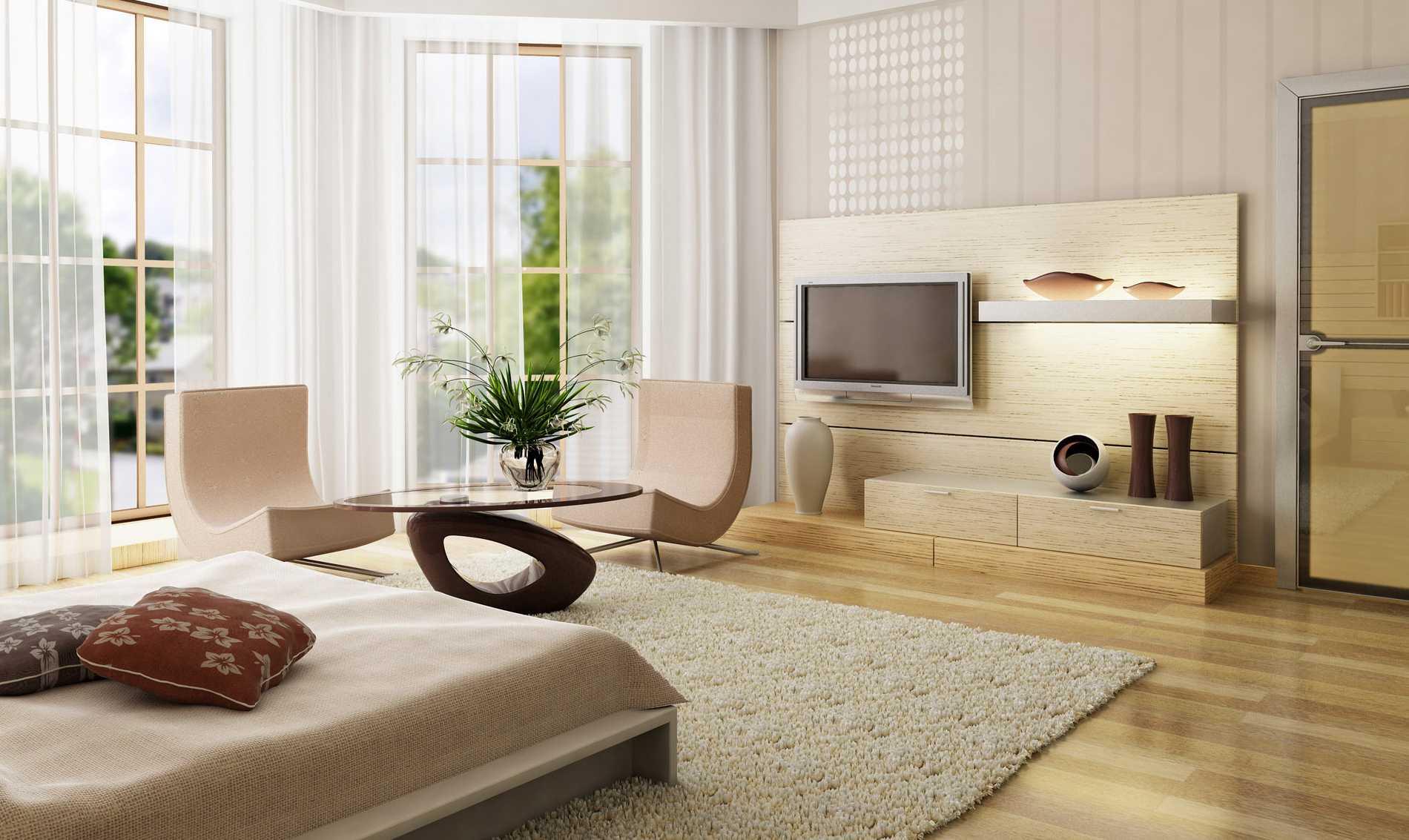 Habitación en tonos blancos