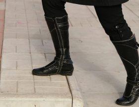 Botas altas de piel para mujer