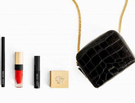 Bolsos de diseñador y maquillaje