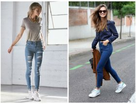 Consejos para usar tenis con jeans