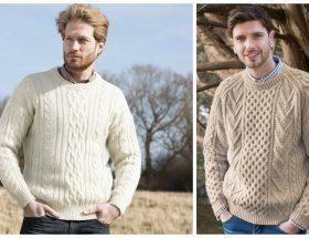 Hombres con suéter de algodón