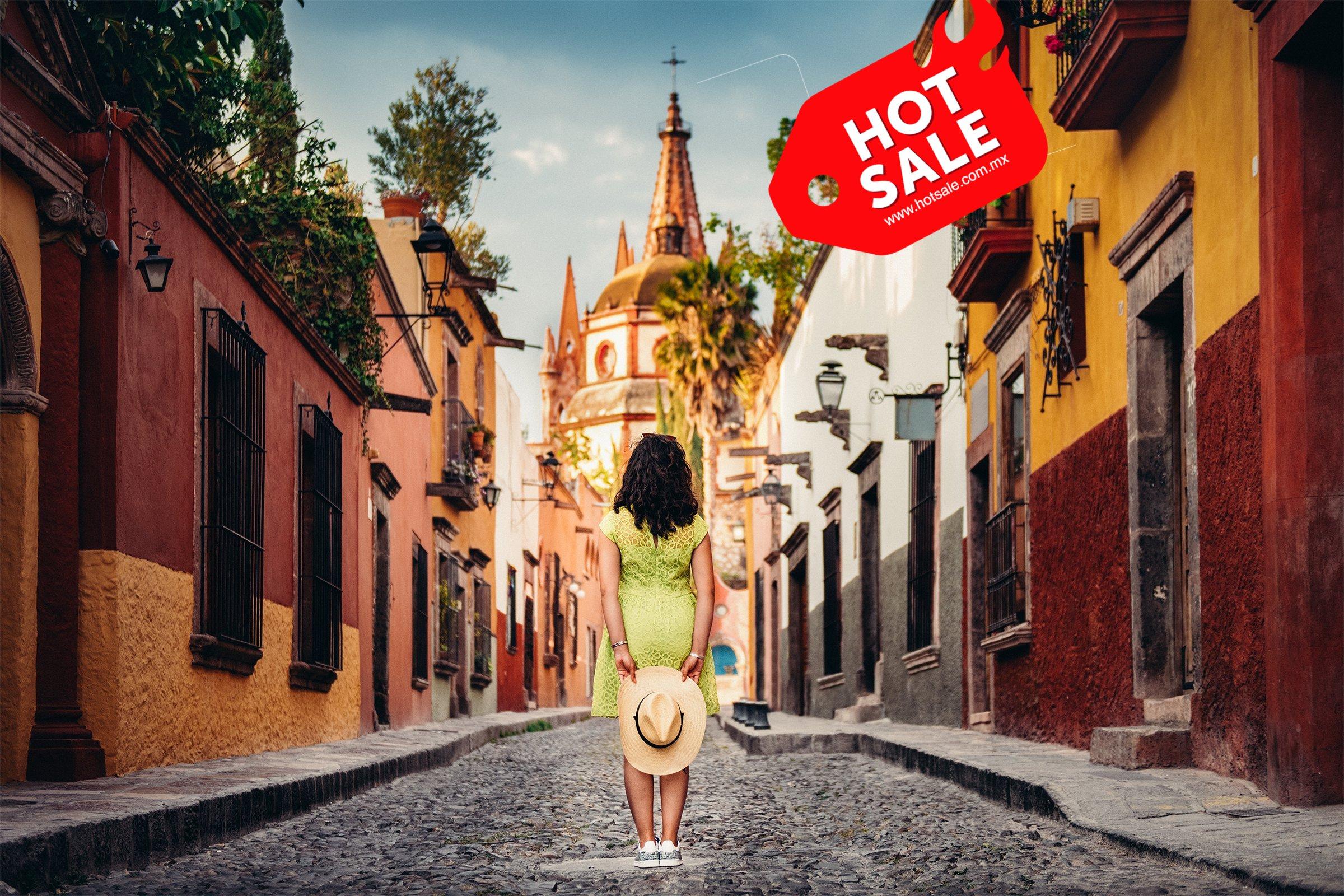 Mujer en calles de San Miguel