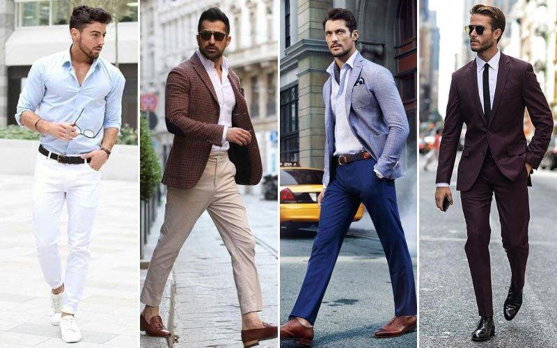 Hombres con pantalones de lana
