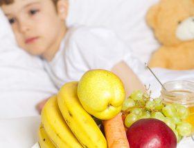 niño enfermo y la alimentación