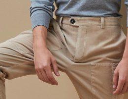 Hombre con pantalones de lana
