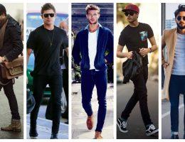 Hombres con diferentes pantalones..