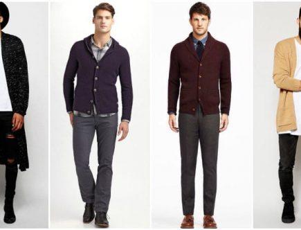 Hombres con ropa de lana
